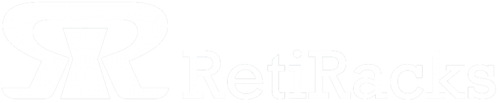 Retiracks logo in white with trademark symbol