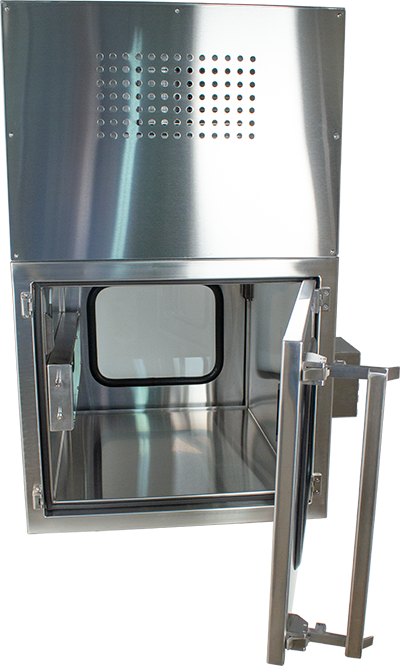 EnviroPass Stainless Steel Pass-thru Chamber with HEPA filter for input and HEPA filter for output